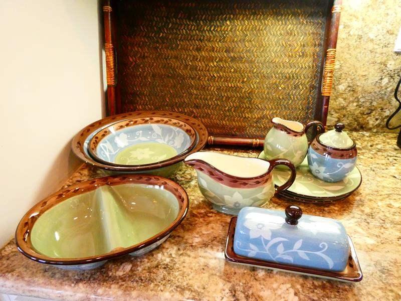 Lot #35- Gorgeous Mikasa Stoneware, Patio Garden Dish Set (main image)