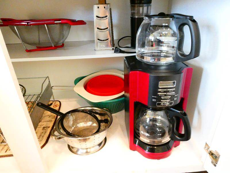 Lot # 36- Assorted Kitchen Supplies, including Mr. Coffee Maker (main image)