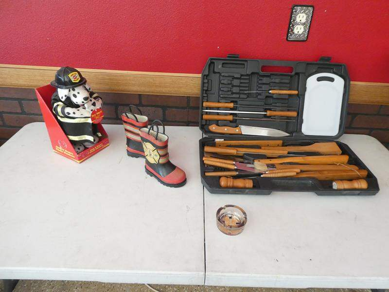 Lot # 148- Fire department specialty collector items! (main image)