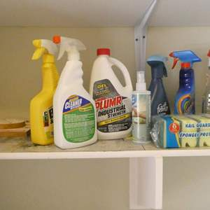 Lot # 155- Assorted cleaning supplies