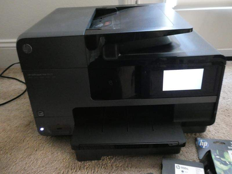 Lot # 169 - HP Officejet Pro Printer with extra ink- hardly ever used! (main image)