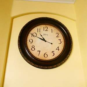 Lot # 59 -Large Clock, Mirror, and Wall hanging piece
