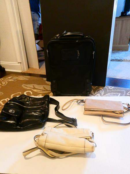 Lot # 77 -Purse collection (including Kate Spade) 2 suitcases (main image)