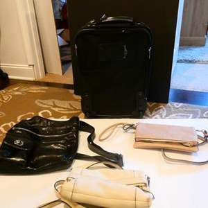 Lot # 77 -Purse collection (including Kate Spade) 2 suitcases