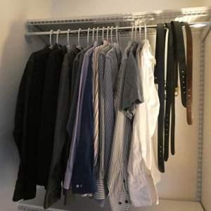 Lot # 181 - Men's  Dress shirts, ties and belts