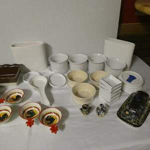"""Auction Thumbnail for: Lot # 188 - Miscellaneous ceramic dishware. Some from Pier 1, World Market, """"Orvieto Fatto A Mano"""", and corning ware"""