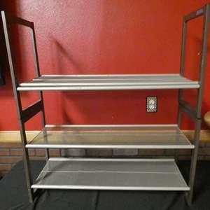 Lot # 191 -Metal storage shelf