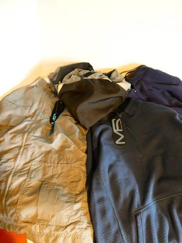 Lot # 36- Men's  Large and XL jackets with tags still on + men's spinning shoes (main image)
