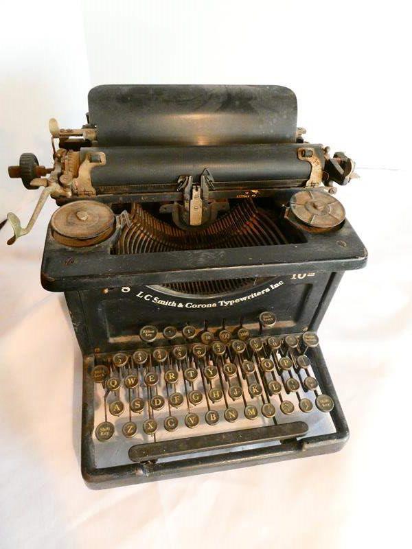 Lot # 37- LC Smith & Corona Typewriter (main image)