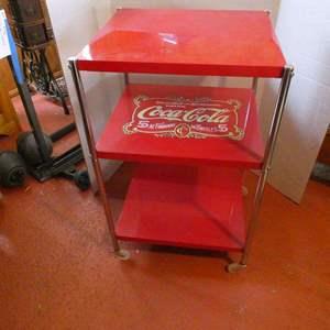 Auction Thumbnail for: Lot # 49- Vintage rolling Coca-Cola cart