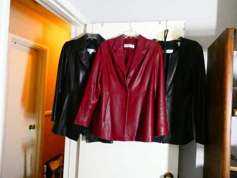Lot # 109 3 Beautiful Women's Leather Jackets (main image)