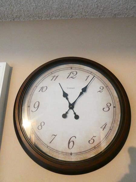 Lot # 11- Large wall  clock (main image)