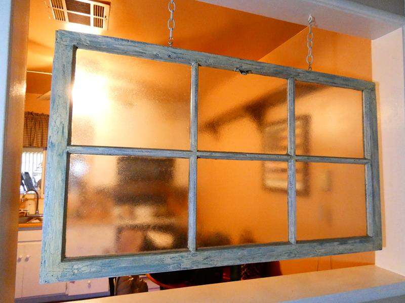 Lot # 12- Rustic hanging window pane with farm house look (main image)