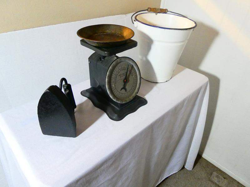Lot # 15- Antique household items - very fun! (main image)