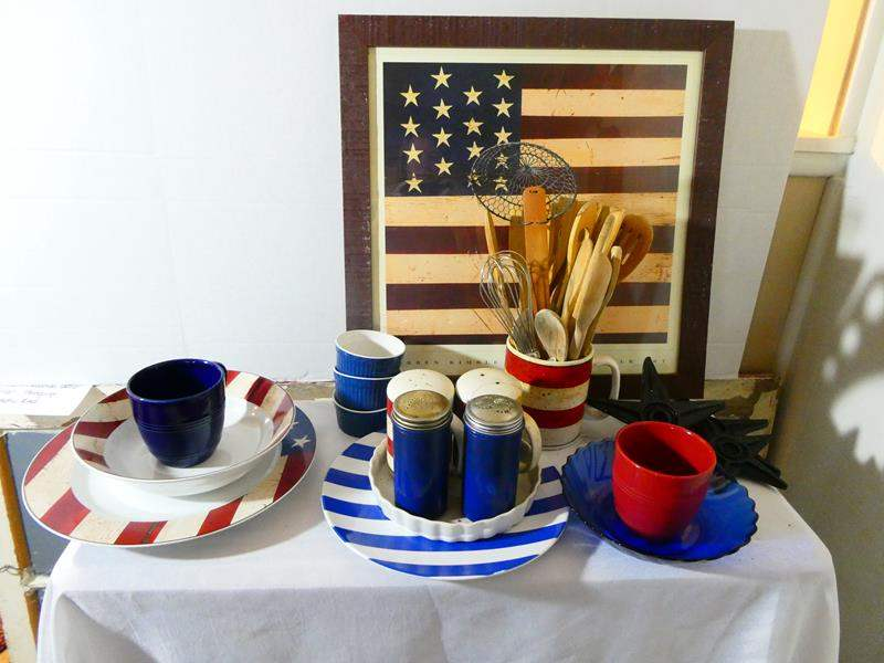 Lot # 16- Americana kitchen decor/ dishes (main image)