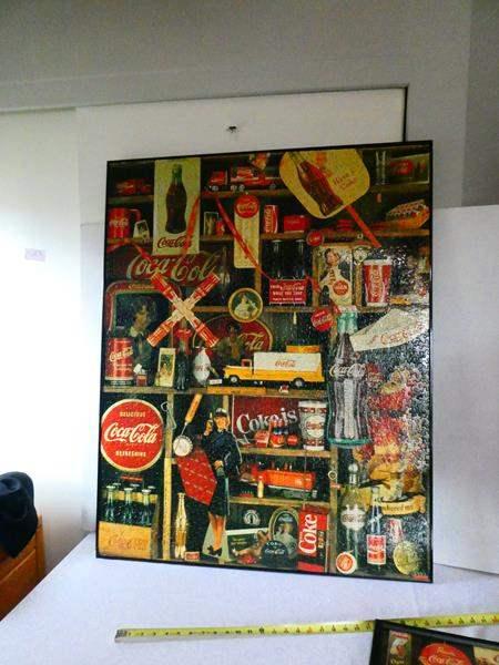 Lot # 120 4 Coca-Cola Vintage Memorabilia Framed Puzzles (main image)
