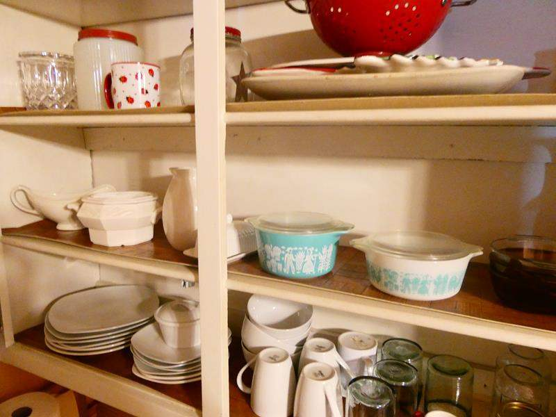 Lot # 18- Shelves worth of assorted dishes! (main image)