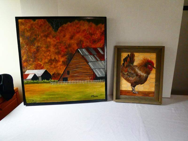 Lot # 123 D. Bowers Farm Paintings (main image)