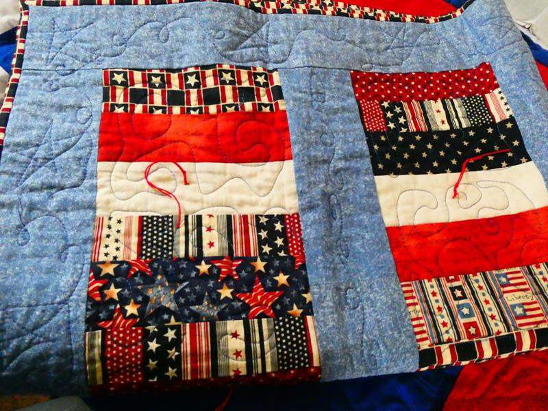 Lot # 126 3 Homemade Quilts With 2 matching Pillow Shams (main image)