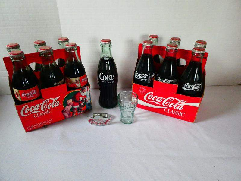 Lot # 130 Vintage Coca-Cola bottles (unopened) with Bottle Opener  (main image)
