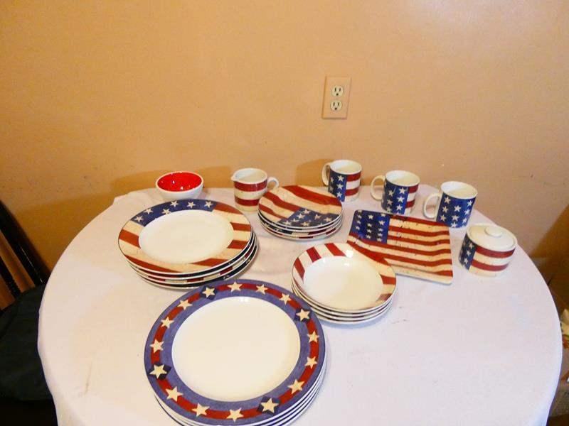 Lot # 28- Americana dishes (main image)