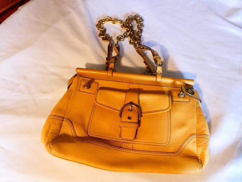 Lot # 32- Soft leather COACH purse (main image)