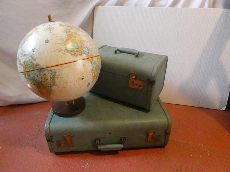 Lot # 52- Trendy, vintage travel decor (main image)