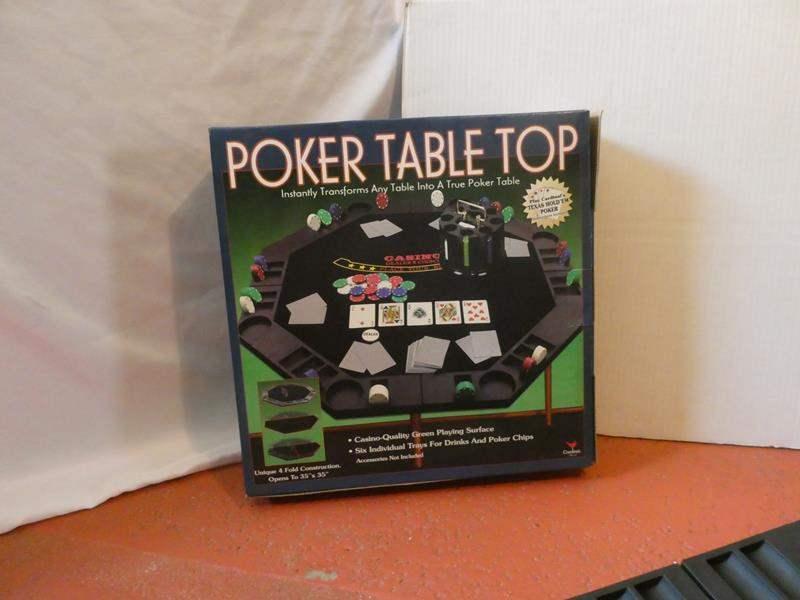 Lot # 54- New Cardinal poker table top (main image)
