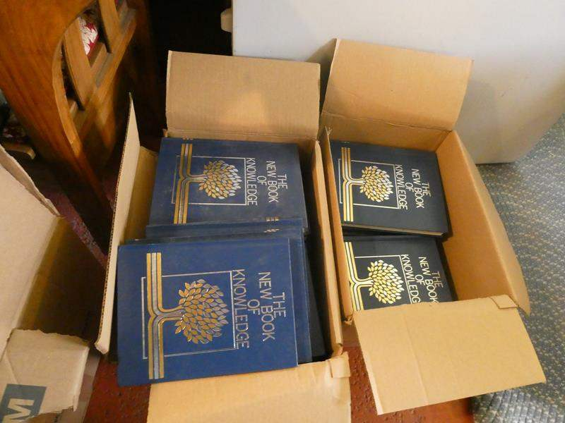 Lot # 60- The new book of knowledge ( 2 boxes full) With some extras (main image)
