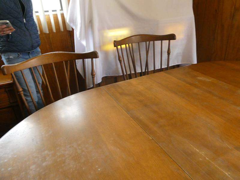 Lot # 72- Oval wood table with chairs (main image)