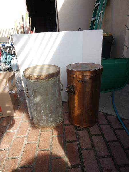 Lot # 87- Two vintage large tins (main image)