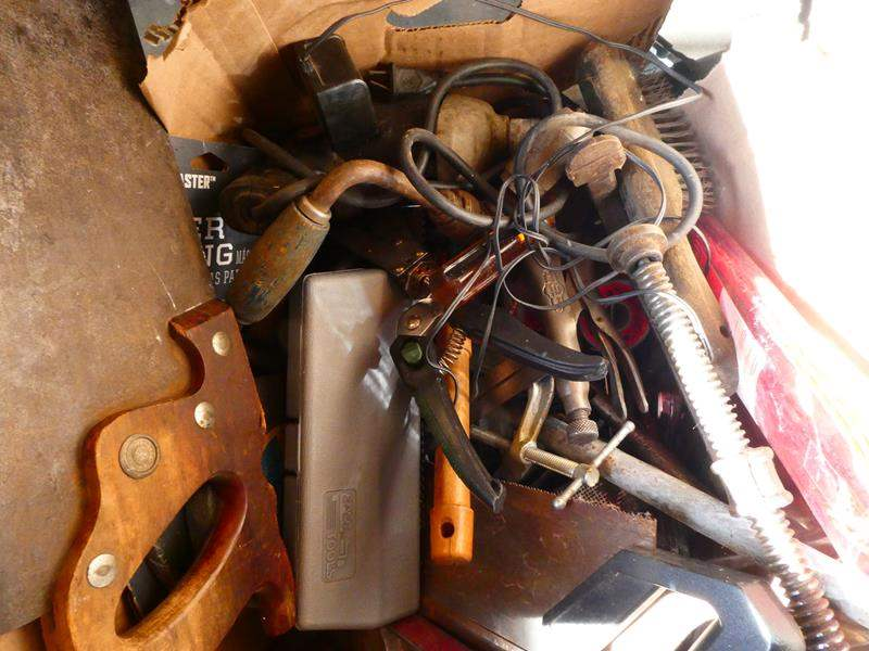 Lot # 189- Three boxes of so many miscellaneous tools, sander and more (main image)