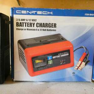 Auction Thumbnail for: Lot # 195- Cen Tech battery charger in box