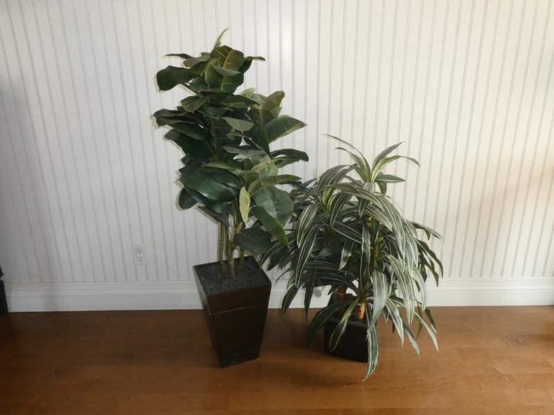 Lot # 52- Set of 2 Artificial Potted Trees (main image)