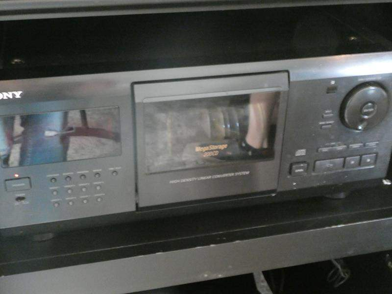 Lot # 58- SONY CD Player with 200 CD'S! (main image)