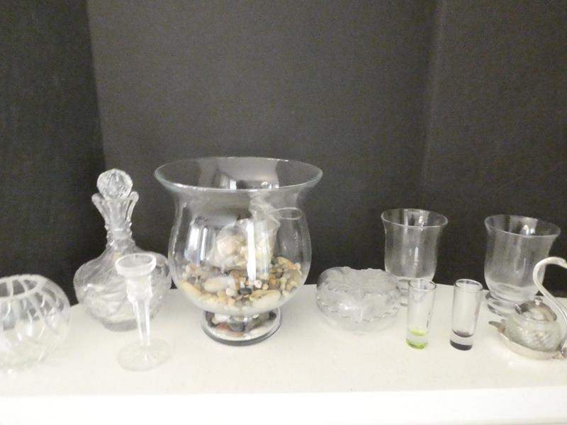 Lot # 8- Crystal glass + other miscellaneous items (main image)