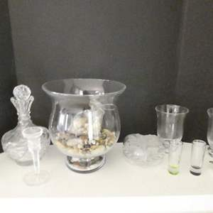 Lot # 8- Crystal glass + other miscellaneous items
