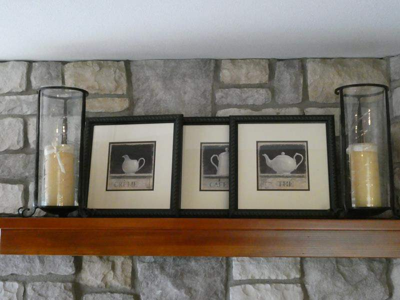 Lot # 62- 3 Piece Framed Pictures with 2 Candles (main image)