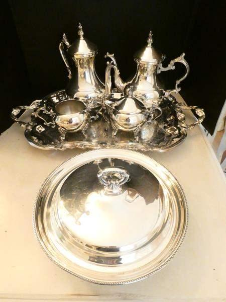 Lot # 14- F.B. Rogers silver plated tea set (main image)