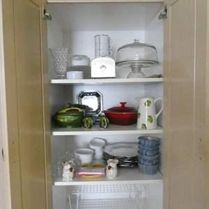 Lot # 76- 3 Shelves full of Amazing Kitchenware!