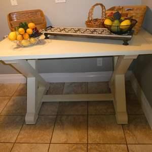 Lot # 78-Farmhouse Table with décor