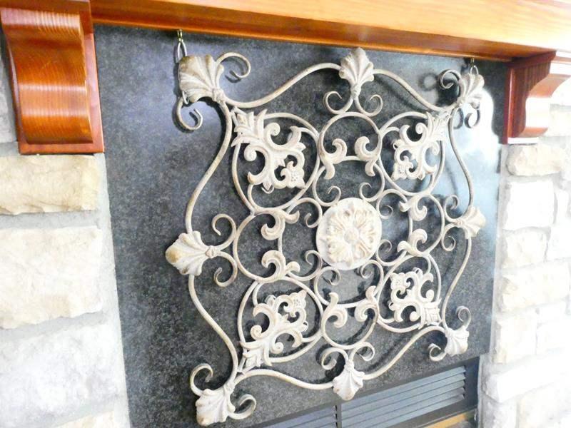 Lot # 19-  Wrought Iron wall decor (main image)