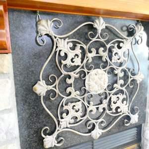 Lot # 19-  Wrought Iron wall decor