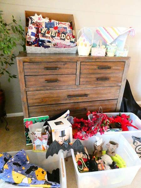 Lot # 27- Six bins of holiday decorations! (main image)