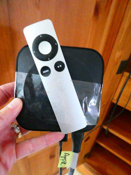 Lot # 34- Apple TV with remote (main image)