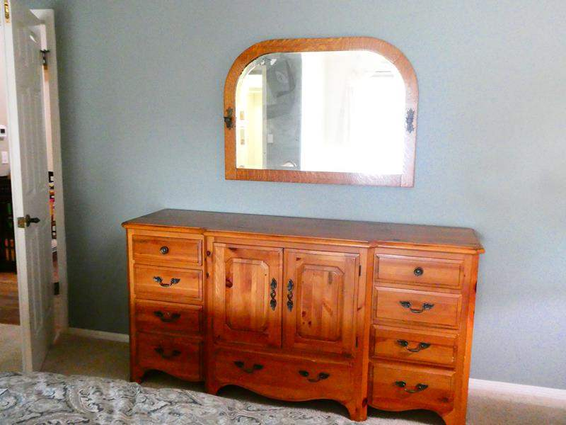 Lot # 37- Pennsylvania House Dresser with Beautiful antique Mirror (main image)