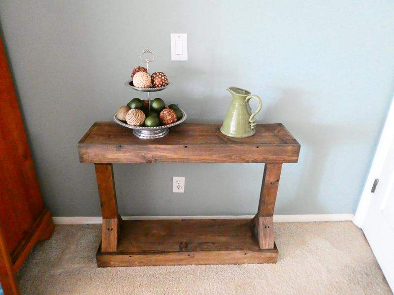 Lot # 38- Rustic  Accent Table- Contents not included (main image)