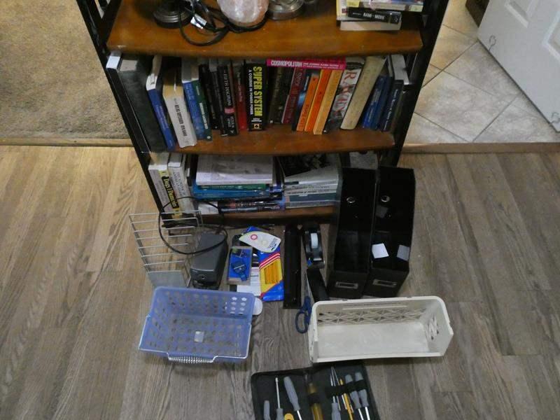 Lot # 107- Bookshelf + extras (main image)