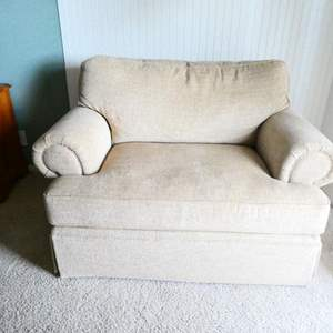 Lot # 40- Bassett (beige) oversized chair- Great Condition!