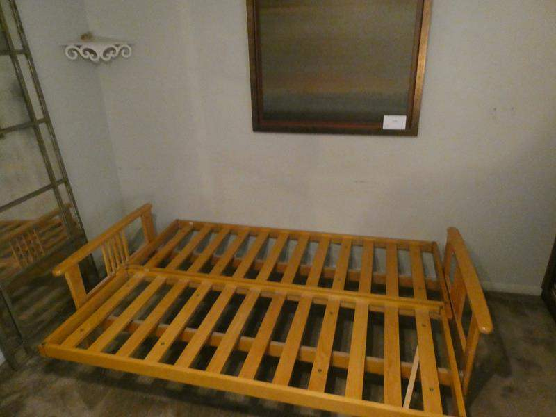 Lot # 112- Futon Bed frame and more! (main image)